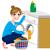 少女 · 洗濯 · 洗濯機 · 実例 · 作業 · 背景 - ストックフォト © kakigori