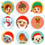 christmas round avatar characters stock photo © kakigori