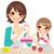 family decorating cupcakes stock photo © kakigori