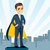 szuperhős · férfi · üzletember · pop · art · retro · üzlet - stock fotó © kakigori