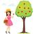 giovani · bella · ragazza · mela · rossa · grande · alimentare - foto d'archivio © kakigori