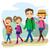 gelukkig · gezin · klimmen · berg · reis · vakantie · dag - stockfoto © kakigori