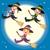 cute witches group flying stock photo © kakigori