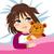 病気 · 少女 · 冷たい · インフルエンザ · ベクトル - ストックフォト © kakigori