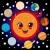 felice · cartoon · illustrazione · pianeta · guardando · sorridere - foto d'archivio © kakigori