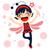sorridente · pequeno · joaninha · desenho · animado · ilustração · feliz - foto stock © kakigori