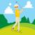 jogador · de · golfe · pronto · homem · esportes · abstrato · clube - foto stock © kakigori