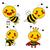 bonitinho · abelha · ilustração · desenho · animado · sorrir - foto stock © kakigori