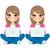 menina · estudar · diferente · desenho · animado · estudante · crianças - foto stock © kakigori