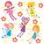 aranyos · rajz · angyalok · izolált · boldog · gyerek - stock fotó © kakigori