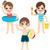 feliz · crianças · praia · ilustração - foto stock © kakigori