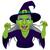 halloween · verde · chapéu · de · bruxa · isolado · branco · desenho · animado - foto stock © kakigori