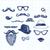 doodle · ingesteld · Blauw · partij - stockfoto © kakigori