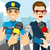 警官 · 泥棒 · 画像 · 警察官 · デザイン · 正義 - ストックフォト © kakigori