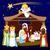 karácsony · család · baba · boldog · jézus · éjszaka - stock fotó © kakigori