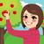 młodych · zielone · jabłoń · sylwetka · światło · słoneczne - zdjęcia stock © kakigori