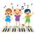 kids playing piano stock photo © kakigori