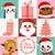 Navidad · Cartoon · tarjetas · establecer · ilustración - foto stock © kakigori