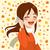 少女 · 携帯電話 · 会話 · 若い女の子 · スマートフォン · 吹き出し - ストックフォト © kakigori