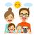 家族 · 母親 · 父から息子 · 娘 · 犬 · ペット - ストックフォト © kakigori
