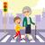 boy helping grandmother crosswalking stock photo © kakigori