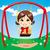 отдых · Swing · девушки · играет · Открытый · вектора - Сток-фото © kakigori