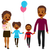 african american happy family walking stock photo © kakigori