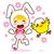 sevimli · küçük · civciv · sarı · karikatür - stok fotoğraf © kakigori