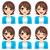 dziewczyna · inny · mimiki · ilustracja · uśmiech · szczęśliwy - zdjęcia stock © kakigori