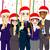 ofis · Noel · parti · vektör · gülen · mutlu - stok fotoğraf © kakigori