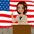 african american politician woman flag stock photo © kakigori