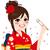 asiático · menina · quimono · ilustração · branco - foto stock © kakigori