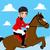 saltando · cavalo · jóquei · arte · saltar · animais - foto stock © kakigori