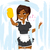 mooie · jonge · afro-amerikaanse · vrouw · meisje · gelukkig - stockfoto © kakigori