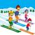 garçon · fille · ski · enfant · art · hiver - photo stock © kakigori