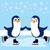 penguins skating winter stock photo © kakigori