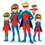 superhero family costume stock photo © kakigori