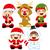 kerstman · elf · grappig · cartoon · vector · geïsoleerd - stockfoto © kakigori