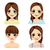 longo · penteado · olhos · cabelo · retrato - foto stock © kakigori