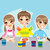 trois · heureux · école · enfants · fille · sourire - photo stock © kakigori