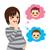 小さな · 将来 · 母親 · 美しい · 花 · 髪 - ストックフォト © kakigori