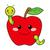 desenho · animado · maçã · bicho · projeto · fruto · arte - foto stock © kakigori