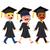afstuderen · kinderen · lopen · cute · toga - stockfoto © kakigori