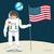 astronaut with flag stock photo © kakigori
