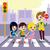 voetganger · teken · school · verkeersbord · illustratie · weg - stockfoto © kakigori