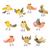 aves · pastel · colores · vuelo · papel · textura - foto stock © kakigori