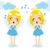 kicsi · aranyos · angyalok · szőke · nő · angyal · imádkozik - stock fotó © kakigori