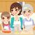 family preparing homemade pizza stock photo © kakigori