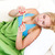 mulher · temperatura · mulher · jovem · termômetro · mão · menina - foto stock © kalozzolak