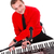 portré · zenész · digitális · zongora · mosolyog · énekes - stock fotó © kalozzolak